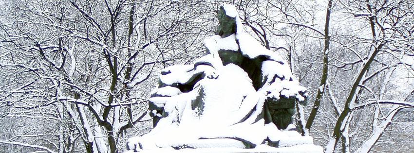 Facebook Borítóképek/Emberek/Királynék: Téli Facebook borítókép Erzsébet királyné - Sissi szobrával (Zala György alkotása) - karácsonyi - borítóképek - háttérképek - facebook - ingyen - letöltése - idézettel - számítógépre