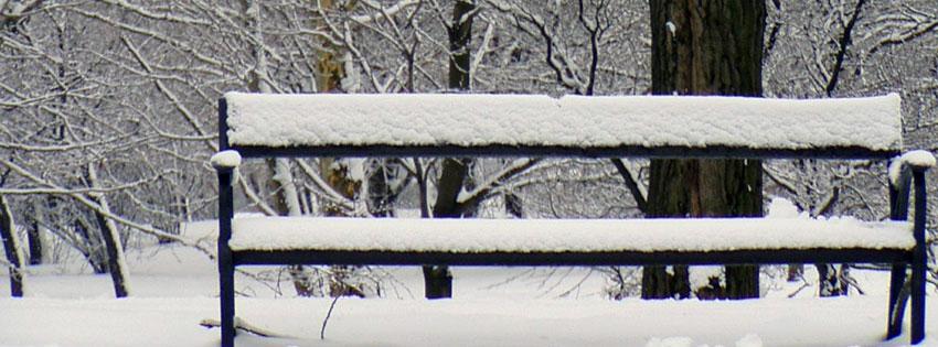 Facebook Borítóképek/Évszakok/Tél: Téli borítókép Facebook idővonalra egy behavazott paddal Budapesten, a Gellért-hegy tetején - borítóképek - háttérképek - letöltése - számítógépre - idézettel - ingyen - karácsonyi - facebook