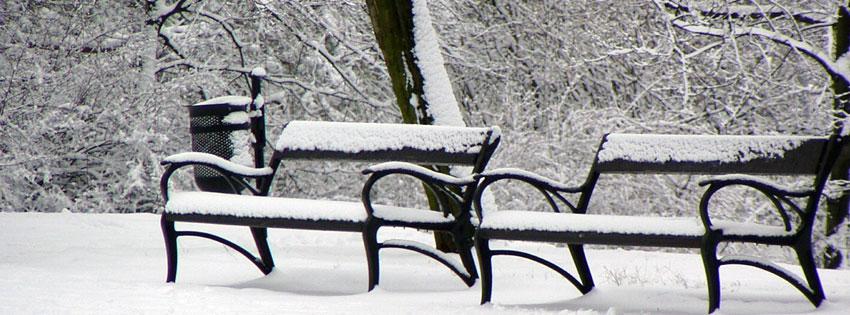 Facebook Borítóképek/Évszakok/Tél: Facebook idővonalra való téli borítókép behavazott padokkal Budapesten, a Gellért-hegy tetején - facebook - karácsonyi - letöltése - számítógépre - ingyen - borítóképek - háttérképek - idézettel