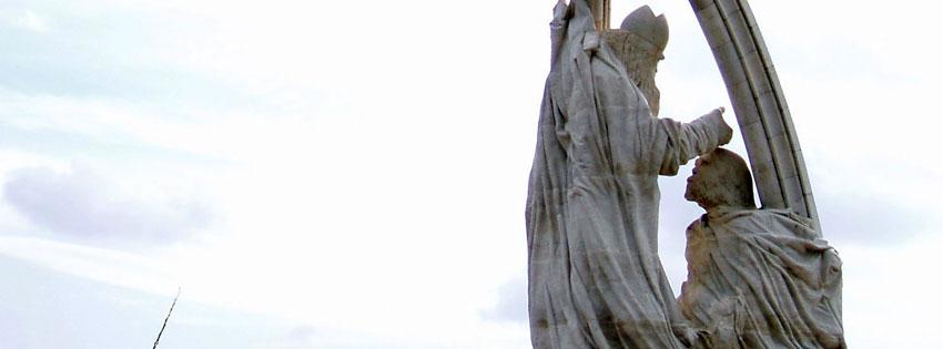Facebook Borítóképek/Vallás/Szentek: Nyári borítókép Facebookra Melocco Miklós István Megkoronázása szobrának részletével - számítógépre - háttérképek - facebook - letöltése - ingyen - karácsonyi - borítóképek - idézettel
