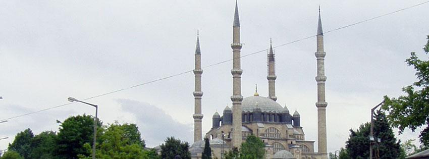 Facebook Borítóképek/Építmények/Templomok Nyári borítókép Facebookra az  Edirne-i (Drinápoly) Szelim mecsetről - karácsonyi - háttérképek - idézettel - számítógépre - letöltése - ingyen - facebook - borítóképek
