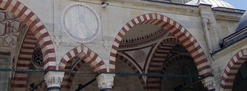 Facebook Borítóképek/Építmények/Templomok Nyári borítókép Facebookra az  Edirne-i (Drinápoly)  Szelim mecset boltíveiről - számítógépre - karácsonyi - letöltése - ingyen - háttérképek - facebook - idézettel - borítóképek