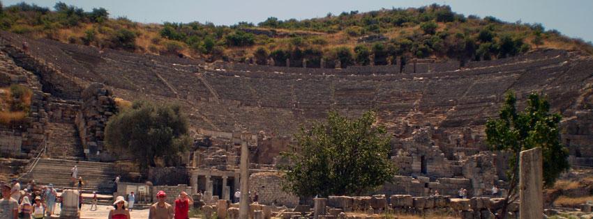 Facebook Borítóképek/Természet/Fa: Nyári facebook borító egy ókori Epheszosz-i (Efézus) színház romjaival - idézettel - karácsonyi - számítógépre - borítóképek - háttérképek - ingyen - letöltése - facebook