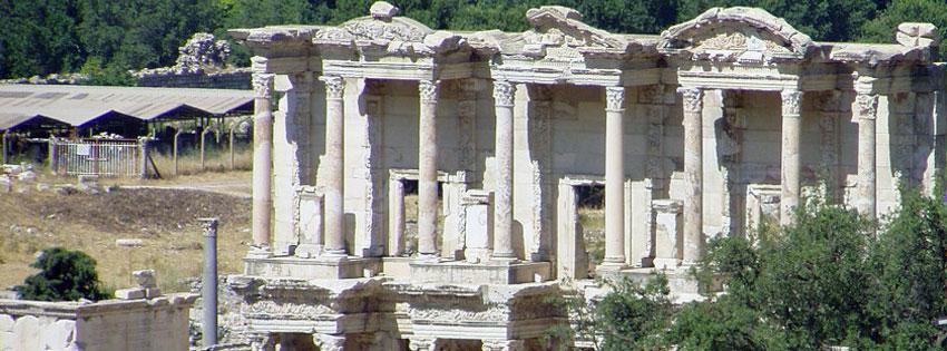 Facebook Borítóképek/Országok/Törökország: Nyári borítókép Facebookra az Epheszosz-ban (Efézus) található Celsus könyvtárral - háttérképek - idézettel - letöltése - facebook - borítóképek - karácsonyi - ingyen - számítógépre