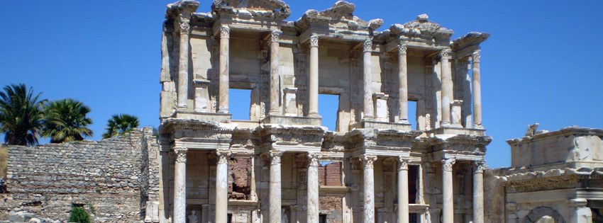 Facebook Borítóképek/Országok/Törökország: Nyári Facebook borító az Epheszosz-ban (Efézus) található Celsus könyvtárról - karácsonyi - idézettel - borítóképek - számítógépre - letöltése - facebook - háttérképek - ingyen