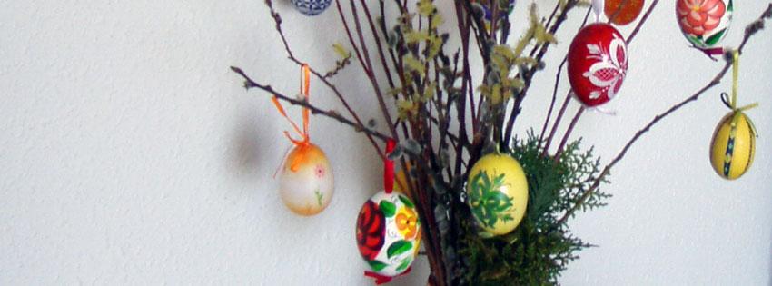 Facebook Borítóképek/Ünnepek/Húsvét: Húsvéti Facebook borítókép barkával és hímes tojásokkal - idézettel - facebook - háttérképek - ingyen - letöltése - karácsonyi - borítóképek - számítógépre
