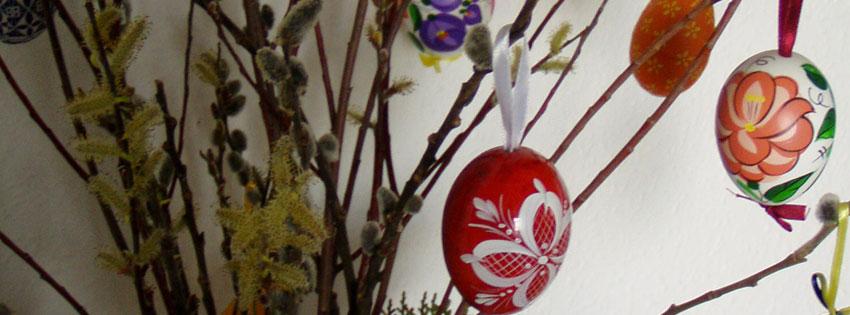 Facebook Borítóképek/Vallás/Húsvét: Húsvéti borítókép Facebookra  hímes tojásokkal és barkával - borítóképek - számítógépre - idézettel - facebook - letöltése - ingyen - karácsonyi - háttérképek