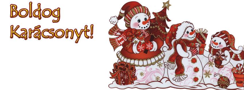 Facebook Borítóképek/Egyéb: Karácsonyi hóemberes Facebook borító